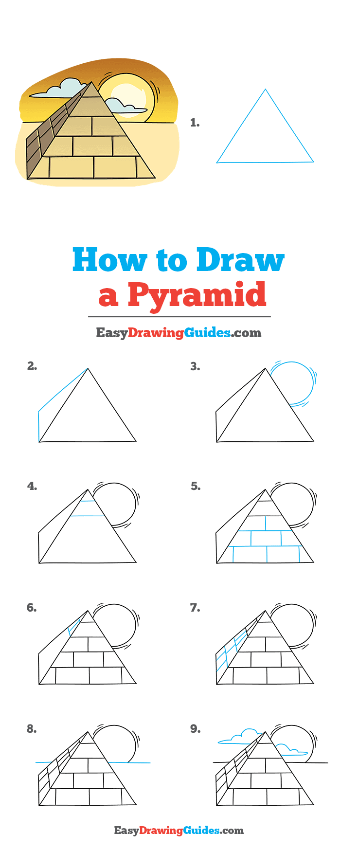 How to Draw Pyramid