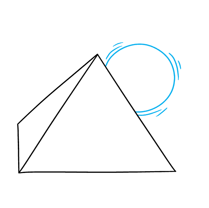 How to Draw Pyramid: Step 3