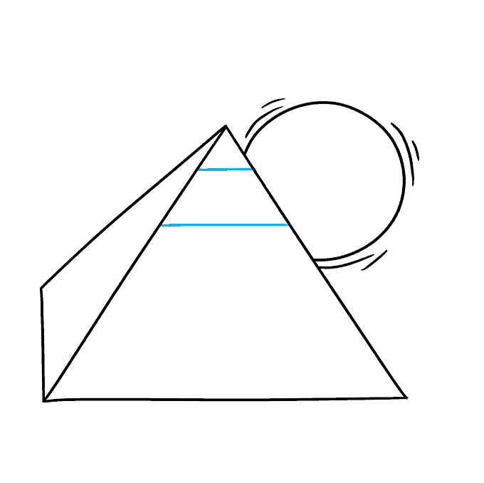 How to Draw Pyramid: Step 4
