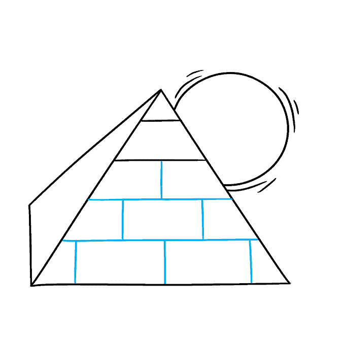 How to Draw Pyramid: Step 5