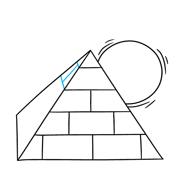 How to Draw Pyramid: Step 6