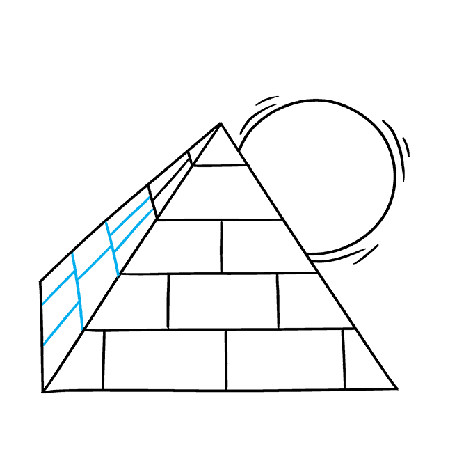 How to Draw Pyramid: Step 7