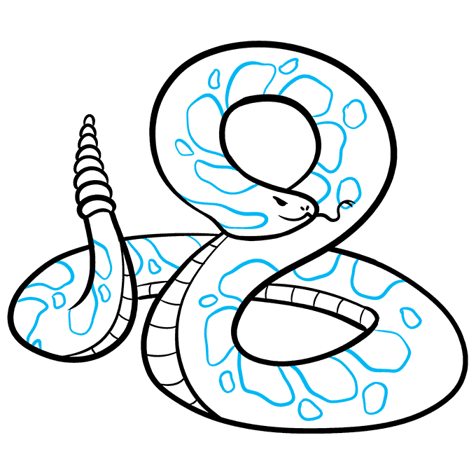 How to Draw Rattlesnake: Step 9