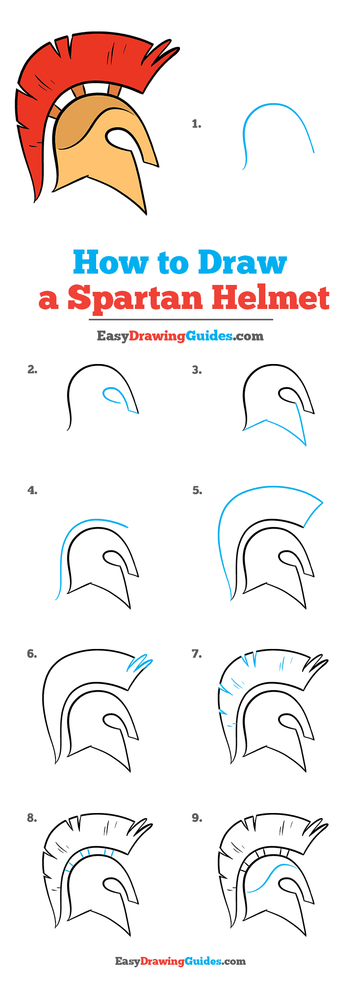 How to Draw Spartan Helmet