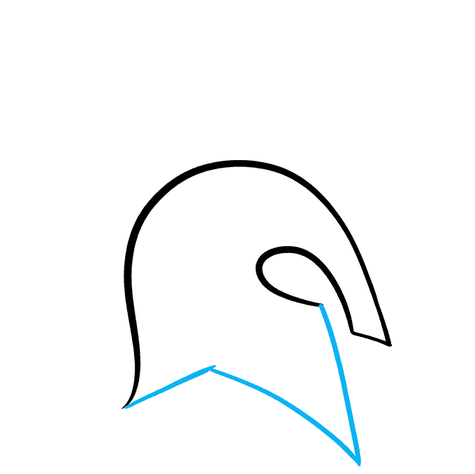 How to Draw Spartan Helmet: Step 3