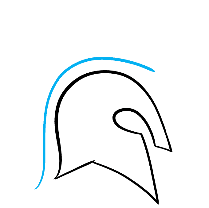 How to Draw Spartan Helmet: Step 4