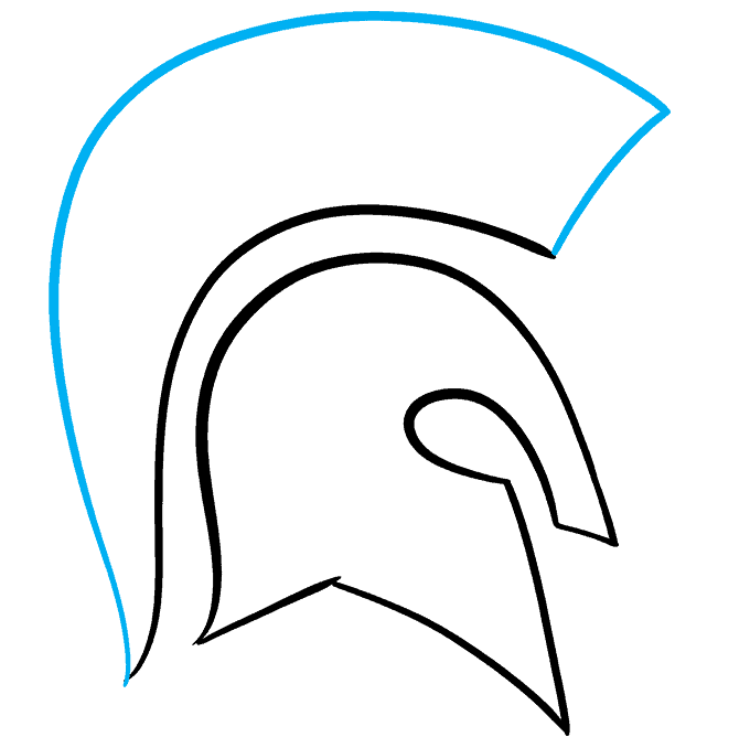 How to Draw Spartan Helmet: Step 5