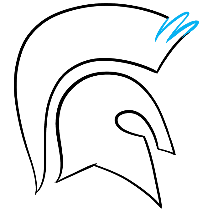 How to Draw Spartan Helmet: Step 6