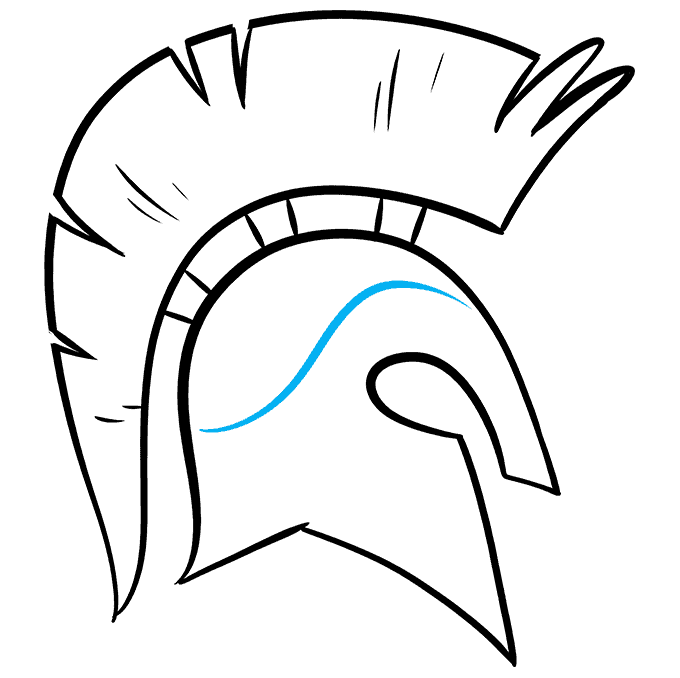 How to Draw Spartan Helmet: Step 9