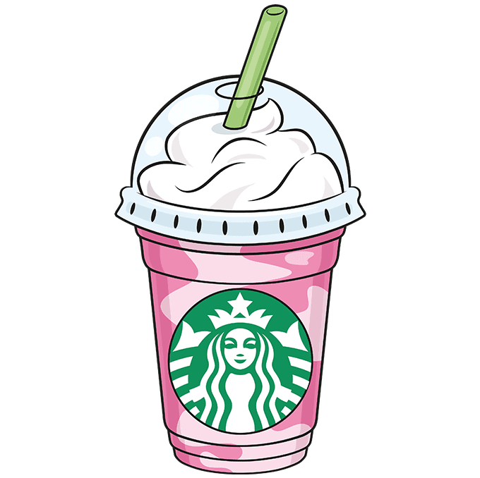 How To Draw A Starbucks Frappuccino Really Easy Drawing Tutorial