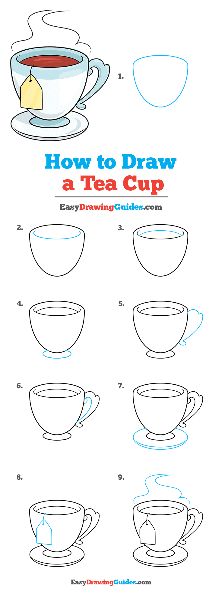 How to Draw Tea Cup