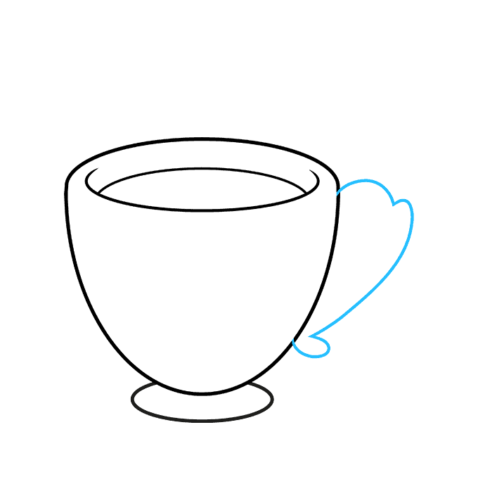 How to Draw Tea Cup: Step 5