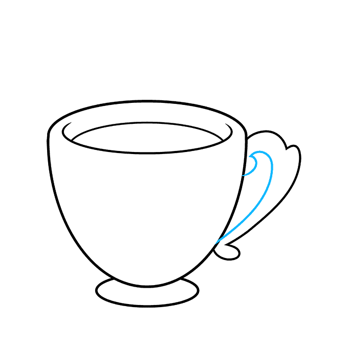How to Draw Tea Cup: Step 6