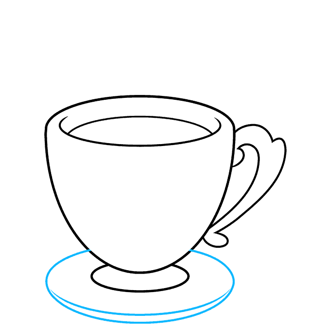 How to Draw Tea Cup: Step 7