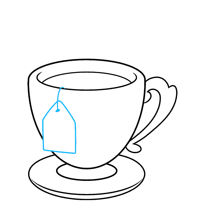 How to Draw Tea Cup: Step 8