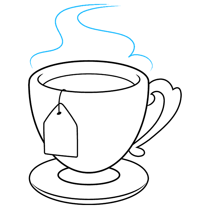 How to Draw Tea Cup: Step 9