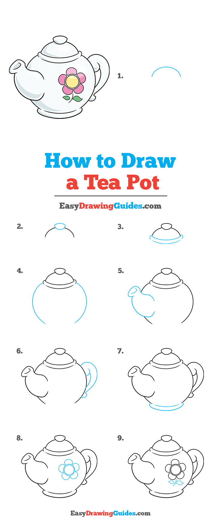How to Draw Tea Pot