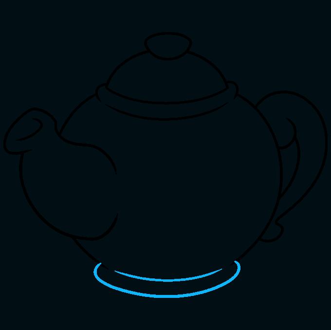 How to Draw Tea Pot: Step 7