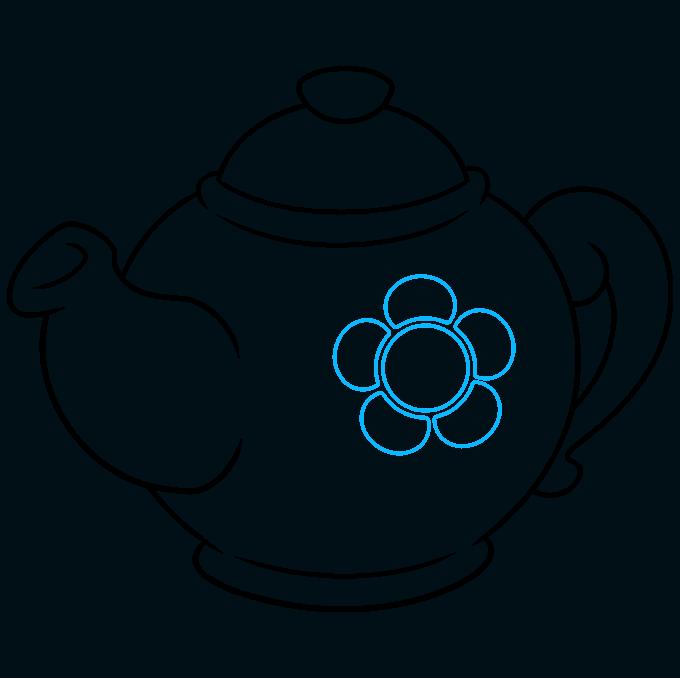 How to Draw Tea Pot: Step 8