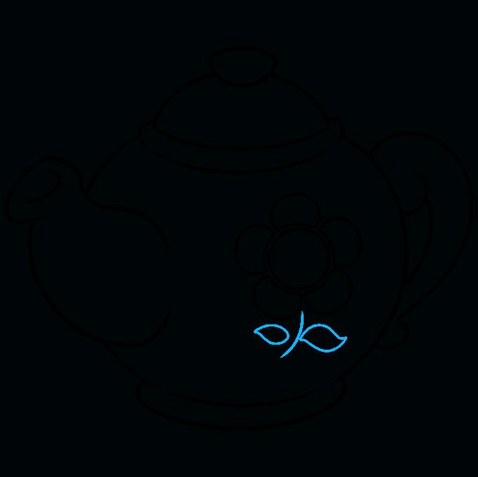 How to Draw Tea Pot: Step 9