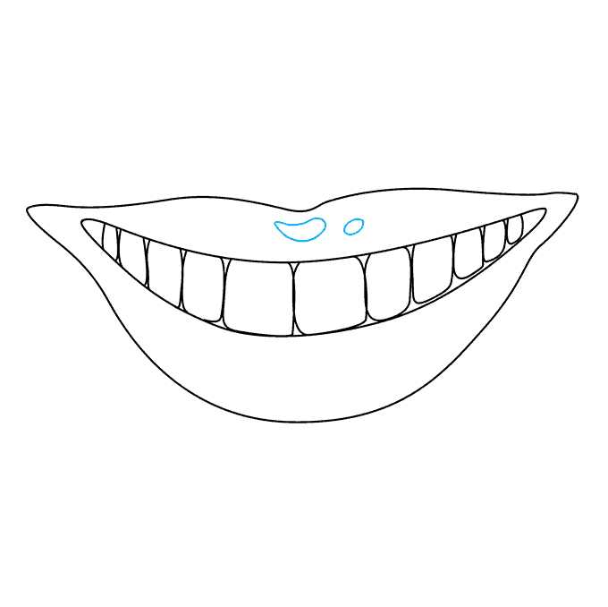 How to Draw Teeth and Lips: Step 7