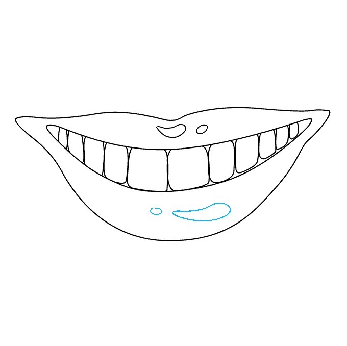 How to Draw Teeth and Lips: Step 8