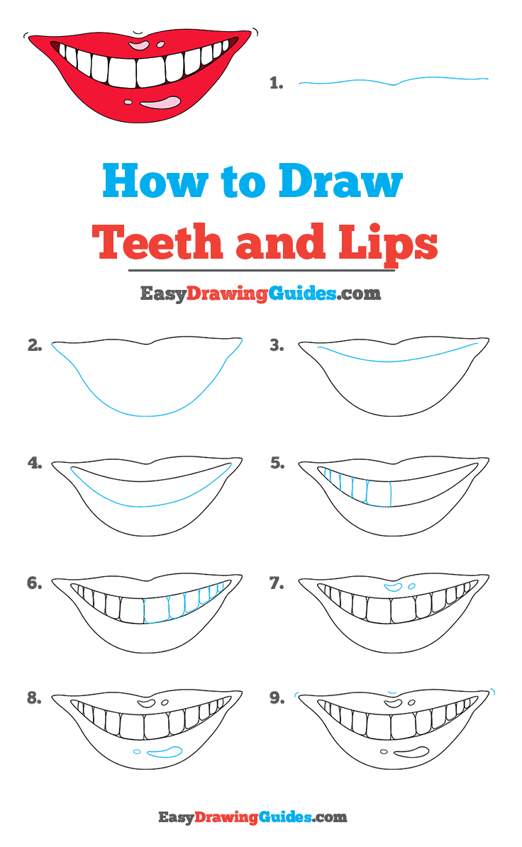 How to Draw Teeth and Lips