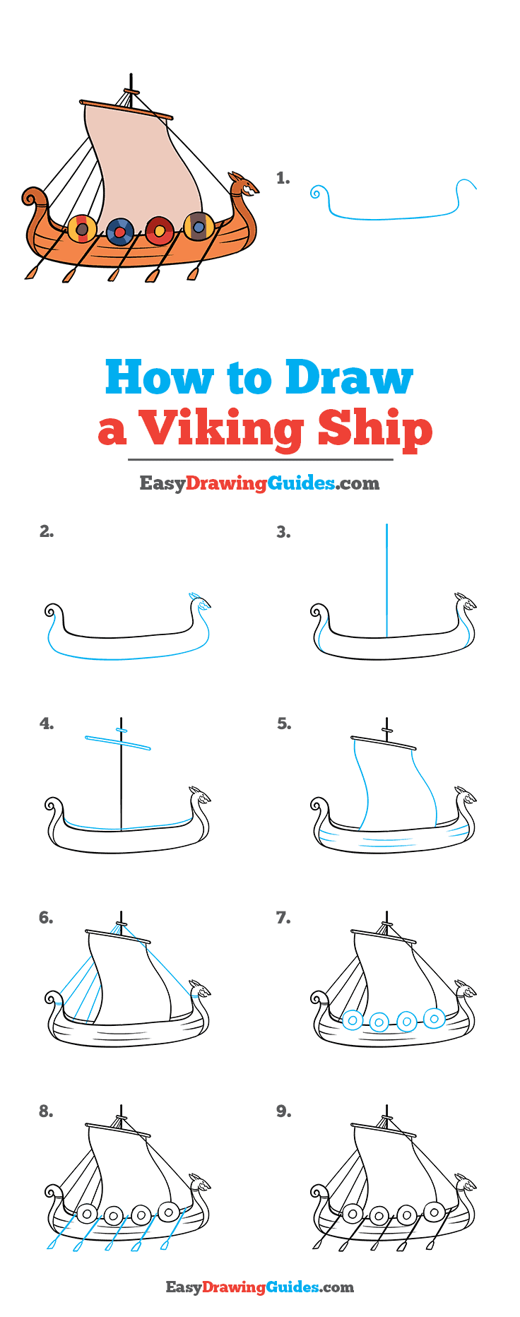 How to Draw Viking Ship