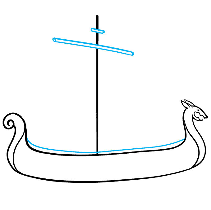 How to Draw Viking Ship: Step 4