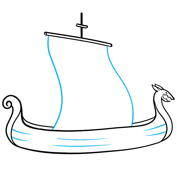 How to Draw Viking Ship: Step 5
