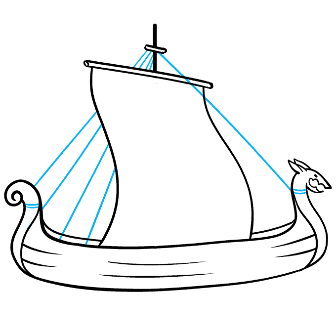 How to Draw Viking Ship: Step 6