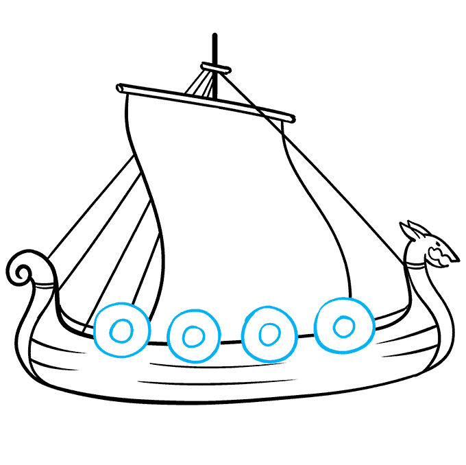How to Draw Viking Ship: Step 7