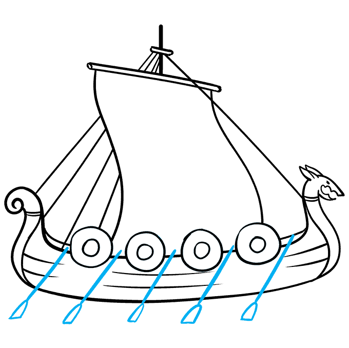 How to Draw Viking Ship: Step 8