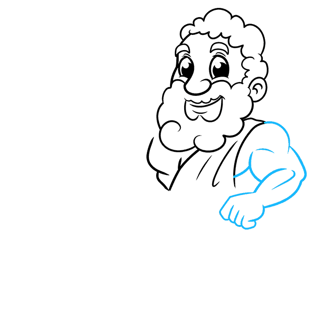 How to Draw Zeus Step 05