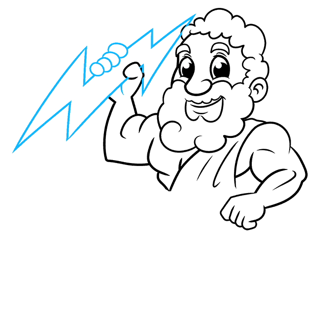How to Draw Zeus Step 07