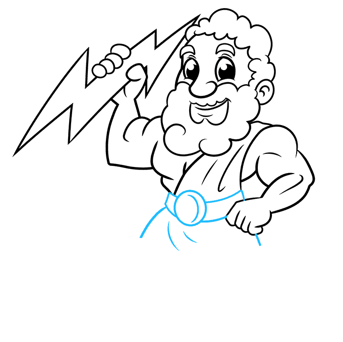 How to Draw Zeus Step 08
