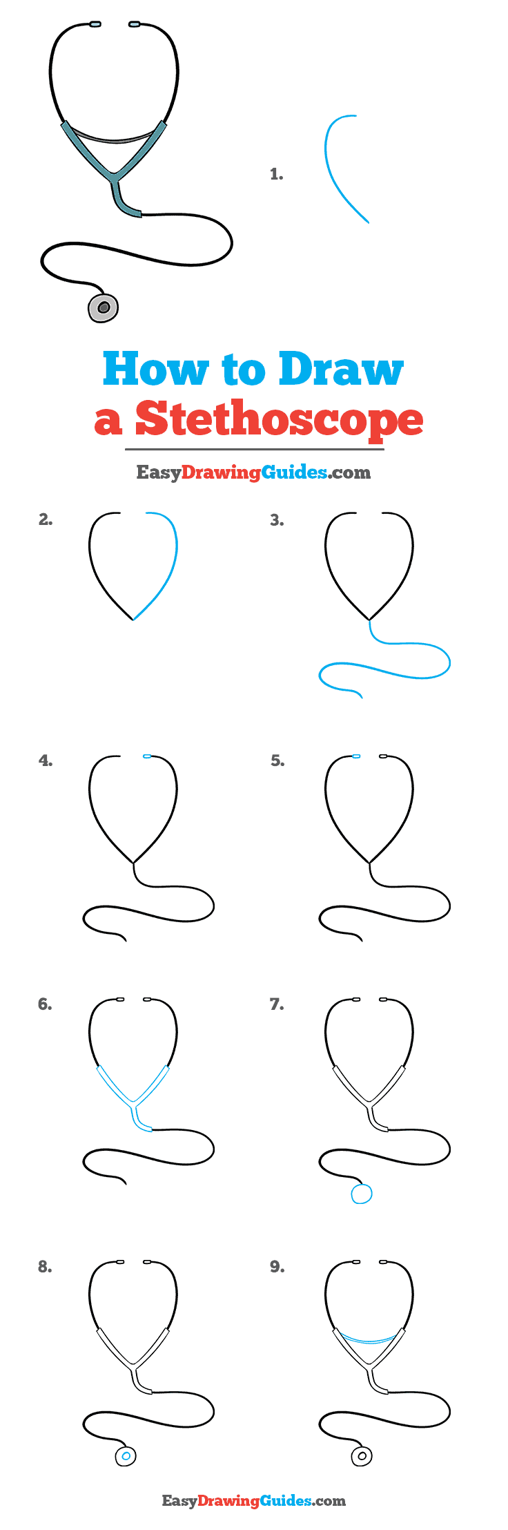 How to Draw Stethoscope