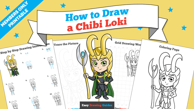 download a printable PDF of Chibi Loki drawing tutorial