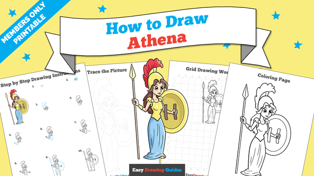 download a printable PDF of Athena drawing tutorial