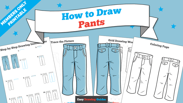 download a printable PDF of Pants drawing tutorial