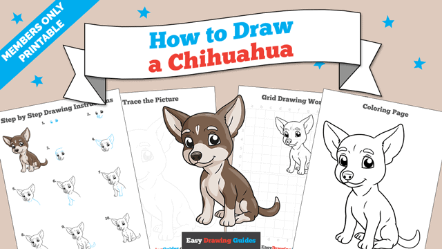 download a printable PDF of Chihuahua drawing tutorial
