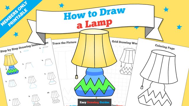 download a printable PDF of Lamp drawing tutorial