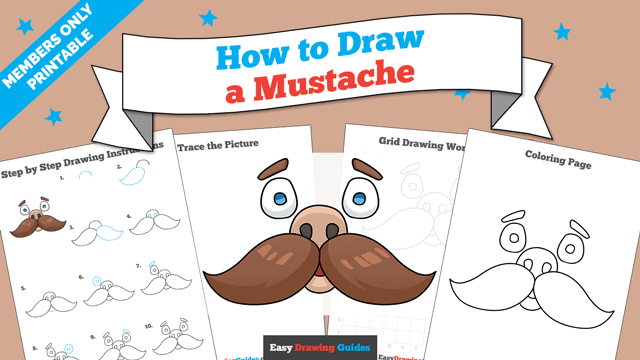 download a printable PDF of Mustache drawing tutorial