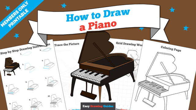 download a printable PDF of Piano drawing tutorial