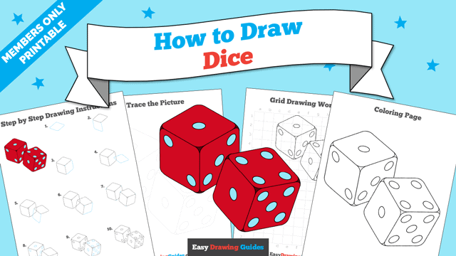 download a printable PDF of Dice drawing tutorial