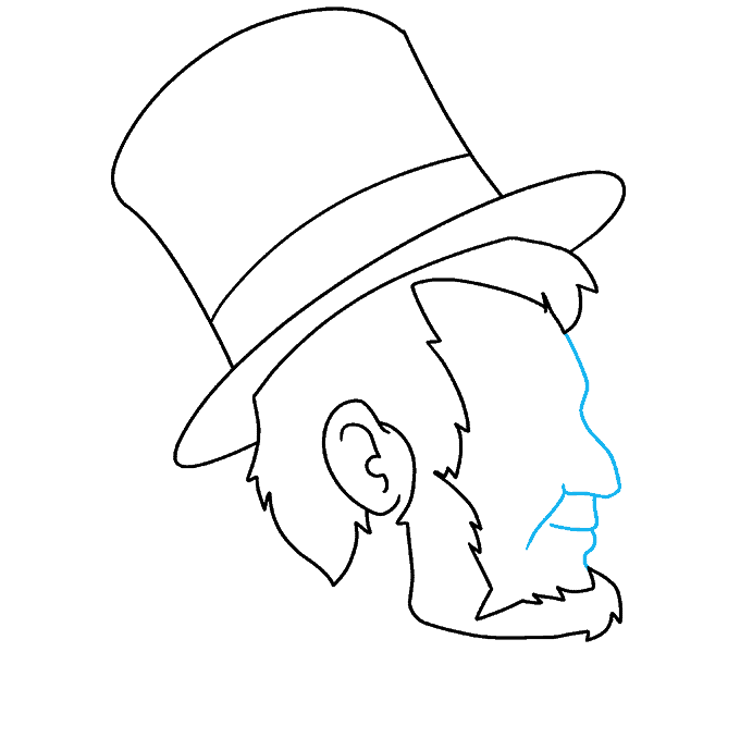 How to Draw Abraham Lincoln: Step 6