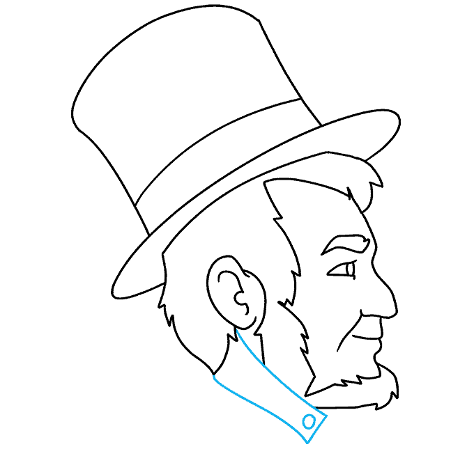 How to Draw Abraham Lincoln: Step 8