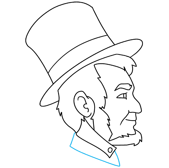 How to Draw Abraham Lincoln: Step 9