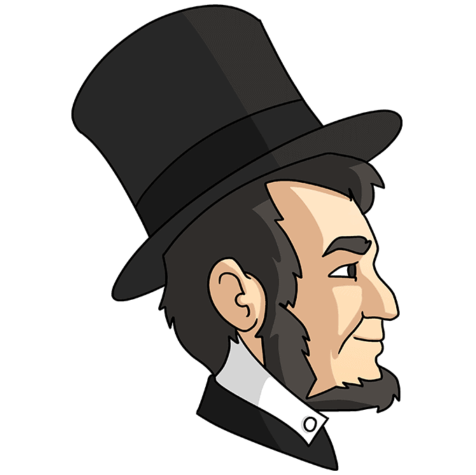 How to Draw Abraham Lincoln: Step 10
