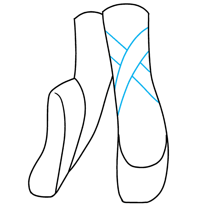 How to Draw Ballet Shoes: Step 6